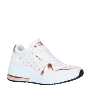 GUESS sneakers wit/koper (wit)