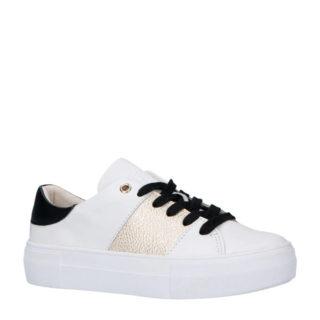 Braqeez leren sneakers wit (wit)