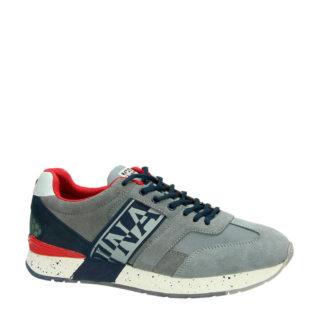 Napapijri suède sneakers grijs (grijs)