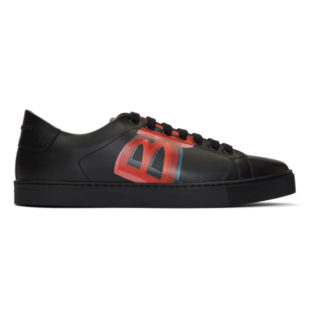 Burberry Black and Red Albert Sneakers