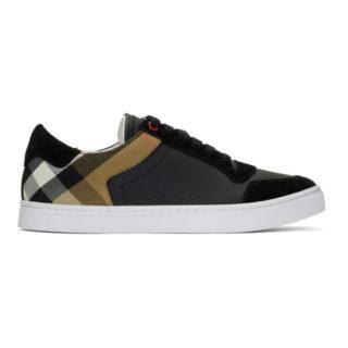 Burberry Black Reeth Low Sneakers