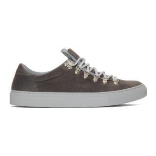Diemme Grey Suede Marostica Low Sneakers
