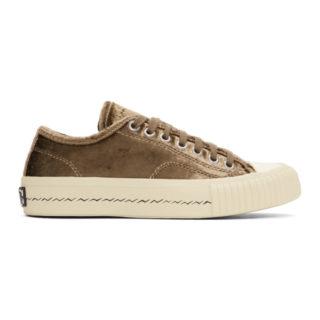 Visvim Brown Velvet Skagway Sneakers
