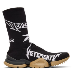 Vetements Black Reebok Classics Edition Metal Sock Sneakers