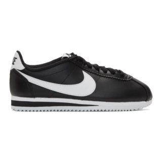 reputable site 47d02 53688 Nike Black and White Leather Classic Cortez Sneakers