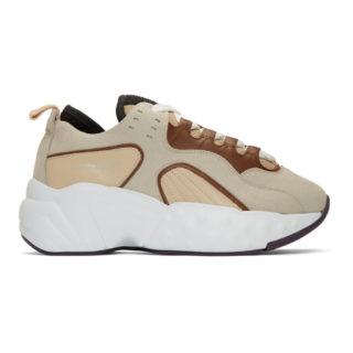 Acne Studios Beige and White Rockaway Sneakers
