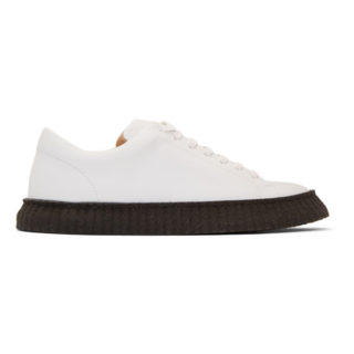 Jil Sander White and Black Connors Sneakers