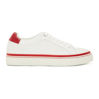 Paul Smith White and Red Basso Sneakers