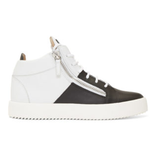 Giuseppe Zanotti Black and White Double May London High-Top Sneakers