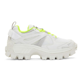 Juun.J White and Green Volume 3 Sneakers