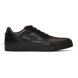 Neil Barrett Black Thunderbolt Skater Sneakers