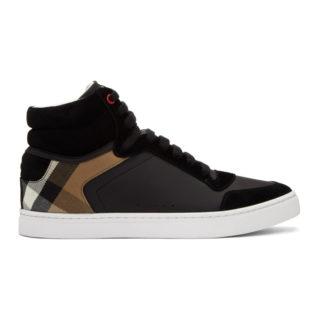 Burberry Black Reeth High-Top Sneakers