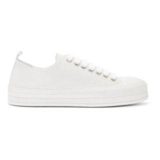 Ann Demeulemeester Off-White Nubuck Sneakers