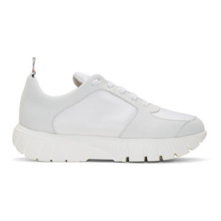 Thom Browne White Raised Sneakers