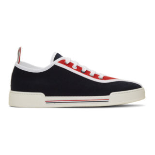 Thom Browne Navy Tricolor Cupsole Sneakers