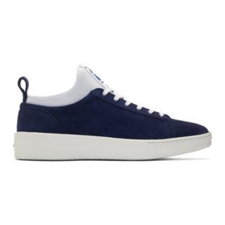 Kenzo Blue Suede K-City Sneakers