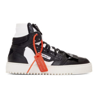 Off-White Black and White Off-Court High-Top Sneakers