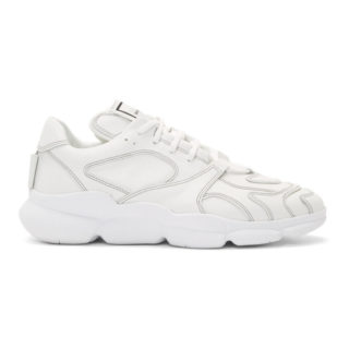 Wooyoungmi White Leather Low-Top Sneakers