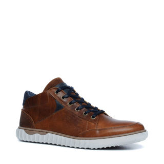Manfield leren sneakers (bruin)