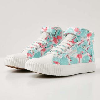 British Knights dee meisjes sneakers hoog - roze flamingo - maat 34 (groen)
