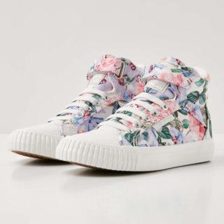 British Knights dee meisjes sneakers hoog - lila bloemen - maat 35 (Overige kleuren)