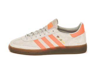 adidas Handball Spezial (Grey Two / Hi Res Coral / Gold Metallic)