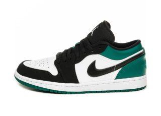 Nike Air Jordan 1 Low (White / Black - Mystic Green)