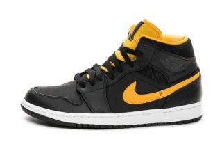 Nike Air Jordan 1 Mid SE (Black / University Gold - White)