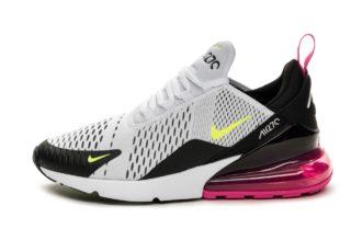 Nike Air Max 270 (White / Volt - Black - Laser Fuchsia)