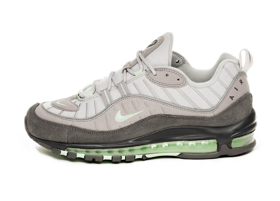 Nike Air Max 98 (Vast Grey Fresh Mint </p>                         <!--bof Product URL -->                                                 <!--eof Product URL -->                         <!--bof Quantity Discounts table -->                                                 <!--eof Quantity Discounts table -->                     </div>                 </div>                 <div id=
