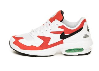 Nike Air Max² Light (White / Black - Habanero Red - Cool Grey)