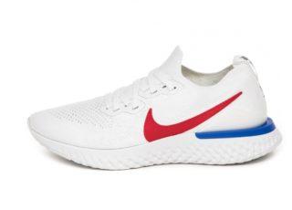 Nike Epic React Flyknit 2 BRS (White / University Red - Racer Blue)