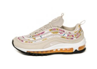Nike Wmns Air Max 97 SE Floral (Light Orewood Brown / White - Laser Or
