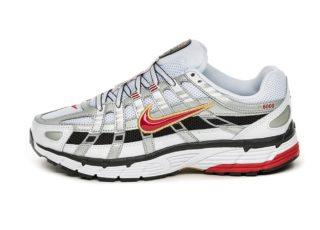 Nike Wmns P-6000 (White / Varsity Red - Metallic Platinum)
