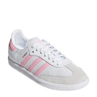 260f6c38516 adidas originals Samba OG J sneakers wit/roze (wit)