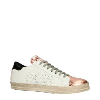 P448 CE9 John leren sneakers wit/rosé (wit)
