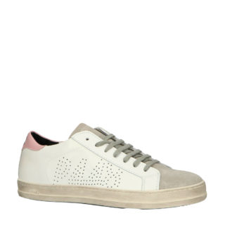 P448 Cojohn leren sneakers wit/grijs (wit)
