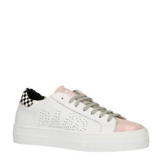 P448 THEA leren sneakers wit/roze (wit)