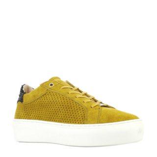 Fred de la Bretoniere suède sneakers geel (geel)