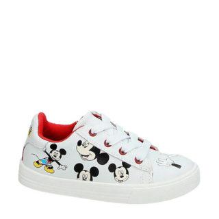 Disney leren sneakers mickey (wit)