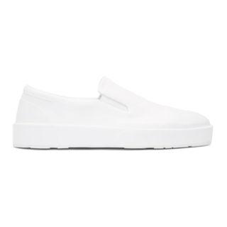 Jil Sander White Softy Slip-On Sneakers