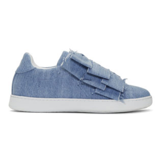 Joshua Sanders Blue Denim Knot Bow Sneakers