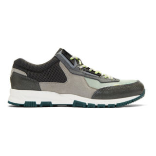 Lanvin Green and Grey Sport Sneakers