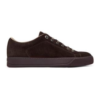 Lanvin Burgundy Suede Sneakers