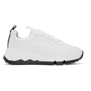 Pierre Hardy White and Black Street Life Sneakers