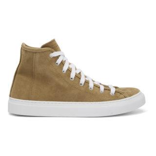 Diemme Beige Suede Veneto Alto Sneakers