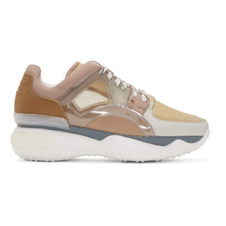 Fendi Pink and Beige Translucent Vinyl Sneakers