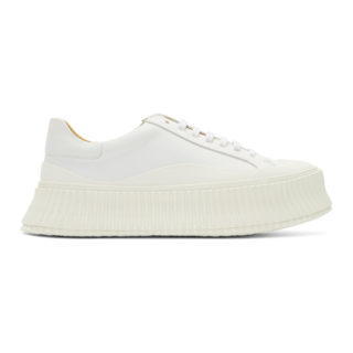 Jil Sander White Platform Sneakers