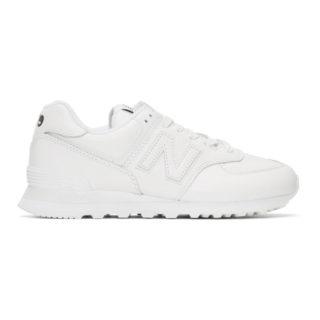 Junya Watanabe White New Balance Edition 574 Sneakers