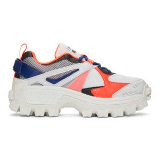 Juun.J White and Orange Volume 3 Sneakers